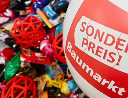 Spendenübergabe: Sonderpreis Baumarkt spendet Tierbedarf an Hirschberger Fellnasen