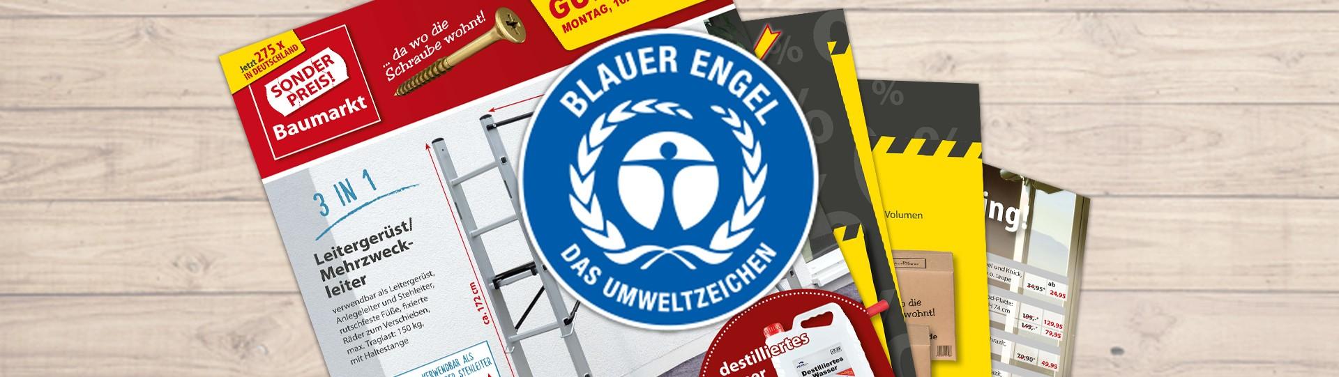 Blauer Engel: Das umweltfreundliche Blättle von Sonderpreis Baumarkt